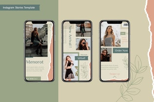 Миниатюра для Инстаграм Ленты и Истории Шаблон - Powerpoint