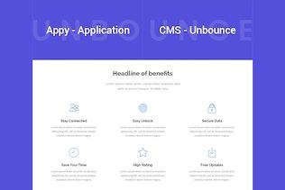 Miniature pour Appy - Page de destination Unbounce de l'application