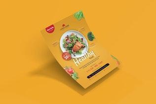 Nourriture Healty - dépliant