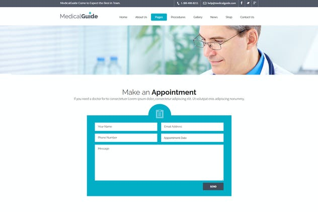 MedicalGuide - Health and Medical Drupal Theme - product preview 3