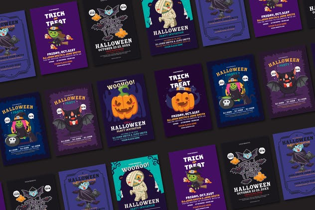60 Halloween Cute Characters - product preview 3