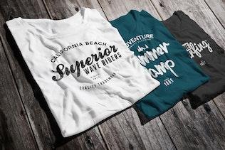 Thumbnail für T-Shirt mit Rundhalsausschnitt Mock-up Männer Version