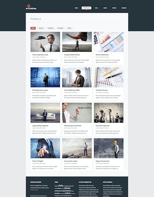 Thumbnail for Wiretree - Responsive HTML5 Template