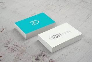 Thumbnail for 85x55 Business Card Mockup v2