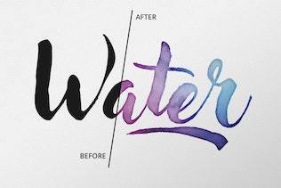 Thumbnail for AquaLab - Vector Watercolor Effect