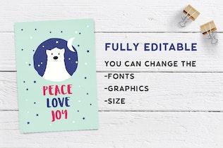 Thumbnail for Cute Christmas Card Set