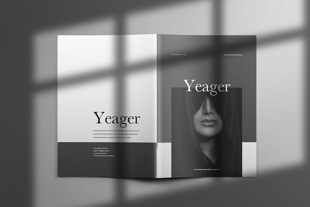 Yeager - Brochure Template Indesign - product preview 10