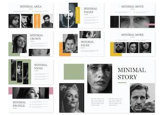 Миниатюра для Минимальный | Шаблон Powerpoint