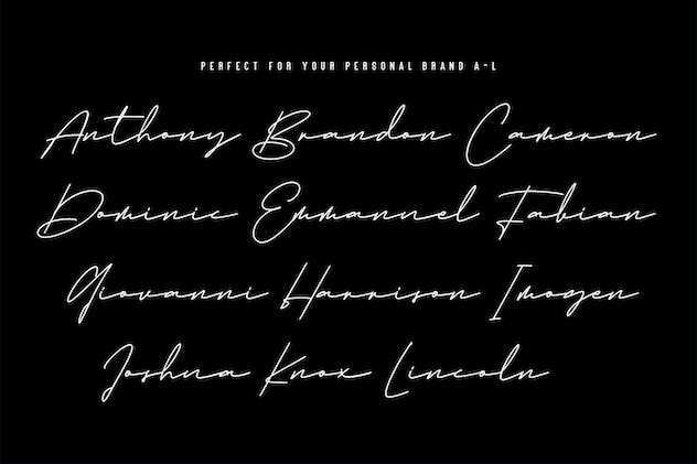 Emma Goulding Signature Collection Script Font - product preview 9