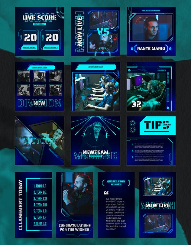 eSport & Gaming Instagram Template V.06 - product preview 2
