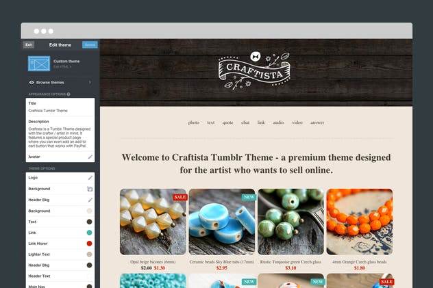 Craftista Tumblr Theme - product preview 3