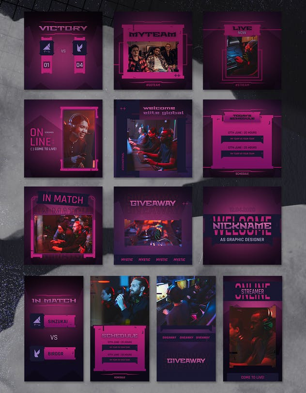 eSport & Gaming Instagram Template V.03 - product preview 2