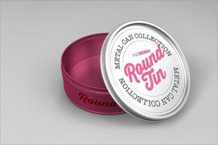 Thumbnail for Round Tin Can Packaging Mockups  Vol.3
