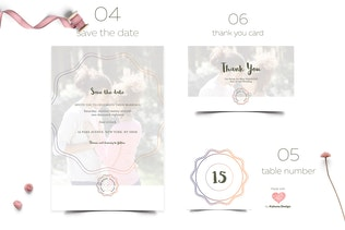 Thumbnail for Wedding Invitation Suite