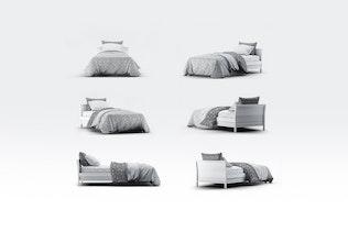Bettwäsche-Modell für Einzelbetten