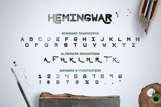 Thumbnail for Hemingwar Font