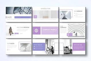 Миниатюра для Daze - Шаблон Powerpoint для бизнеса