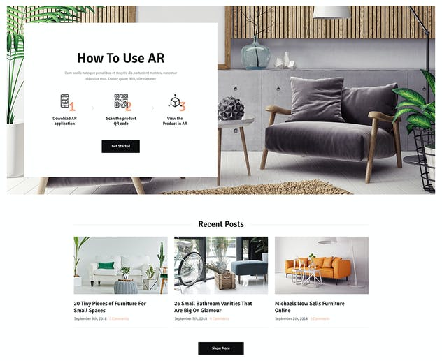 Ozisti | Augmented Reality WooCommerce Theme - product preview 1