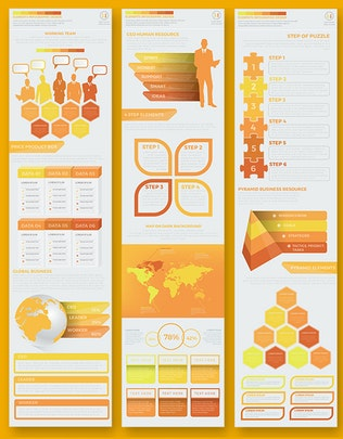 Миниатюра для Желтый пакет Инфографика Дизайн