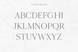Miniatura para Wacian Con serifa Familia tipográfica