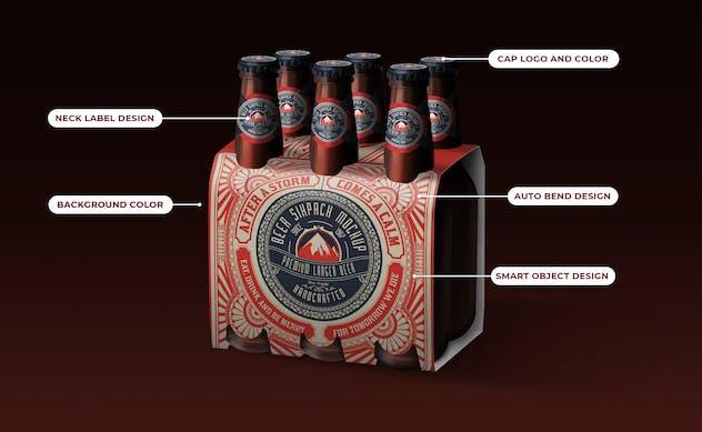Beer Six Pack Box Mockup