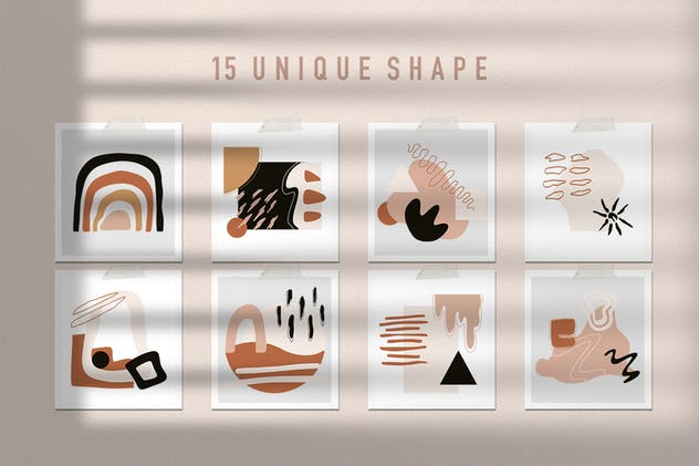 Abstract Element Shape Pattern Seamless - product preview 3