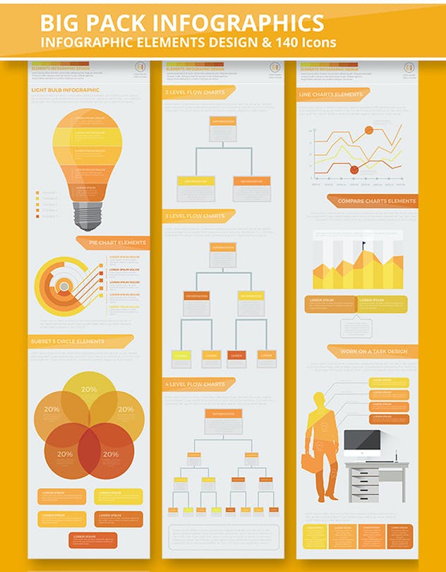 Yellow Infographics - product preview 2