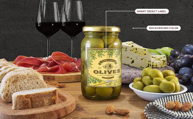 Green Olives Package Mockup Set
