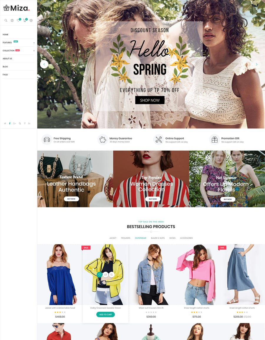 Miza - Fashion Bootstrap 4 Shopify Theme - product preview 5