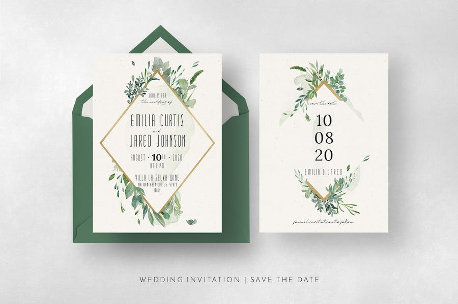 Gold & Greenery Wedding Suite - product preview 8