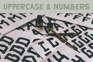 Thumbnail for Peanhead Typeface  Pen Stroke Font