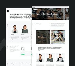 Thumbnail for Balzac - A Creative HTML5 Template for Agencies