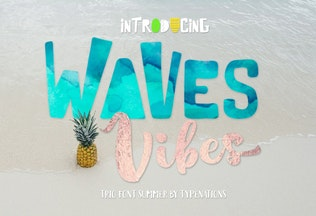 Thumbnail for Waves Vibes Trio Font