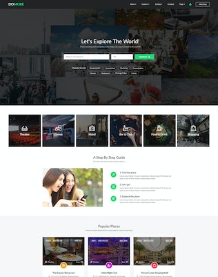 Thumbnail for DoMore | Directory & Listing PSD Template