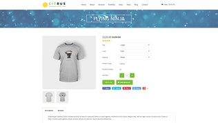 Thumbnail for Citrus one page parallax Shopify Theme