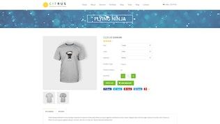 Миниатюра для Цитрусовые одна страница параллакс Shopify Тема