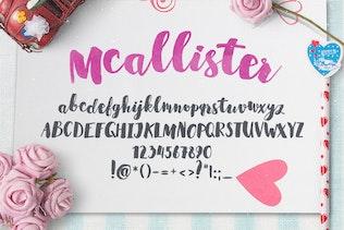 Thumbnail for Mcallister Brush Script