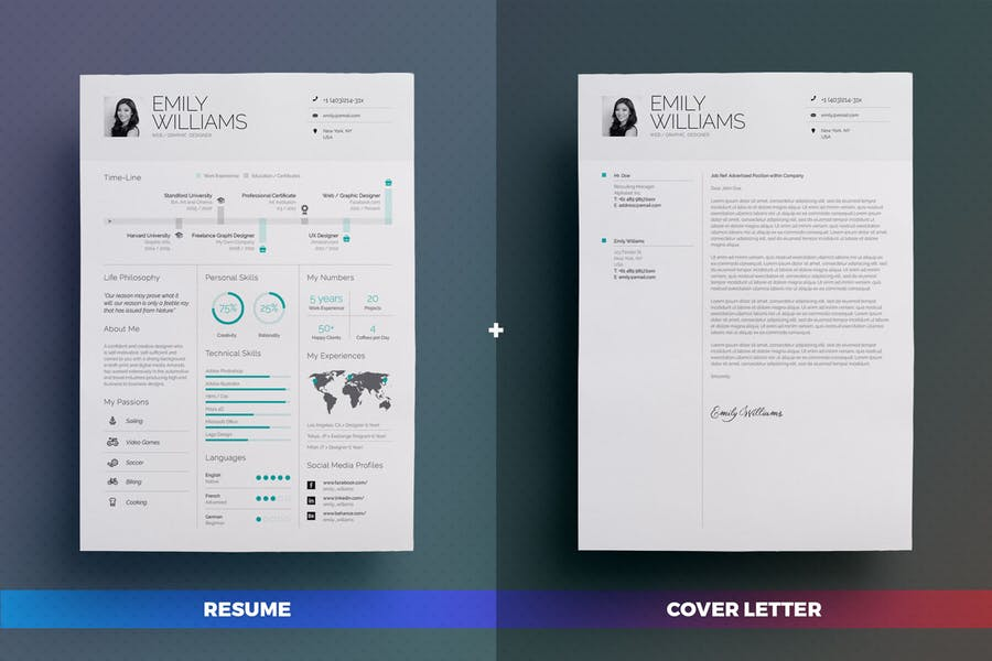 Infographic Resume/Cv Volume 8 - product preview 2