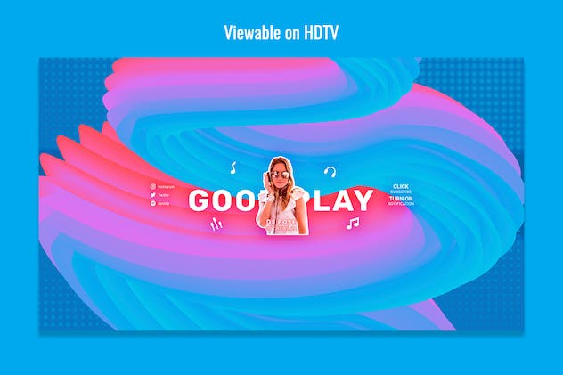Vibrant Youtube Channel Art - product preview 2