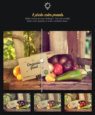 Thumbnail for Organic Food Photo Mockup / Vegetables