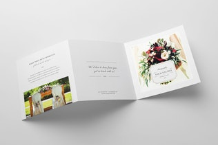 Thumbnail for Photography Square Trifold Brochure Template