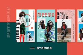 Thumbnail for Meemo -  Instagram Stories Template