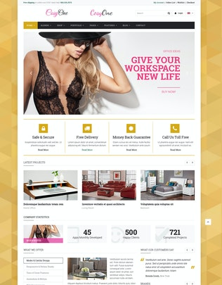 Thumbnail for CosyOne - eCommerce HTML Template