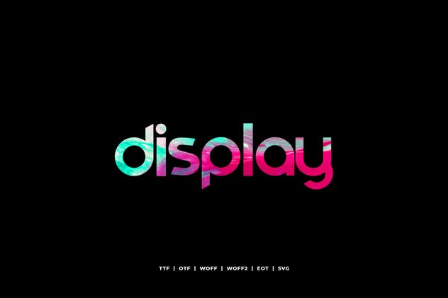Comodo - Display Typeface + WebFonts - product preview 1