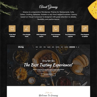 Thumbnail for Granny - Elegant Restaurant & Cafe PSD Template
