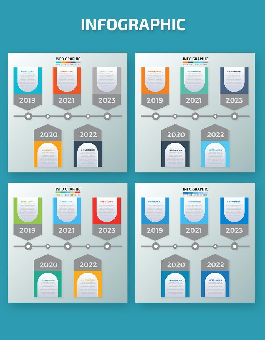 Timeline Infographic Elements - product preview 1
