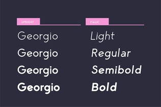 Miniatura para George Redondeado Sans Con serifa