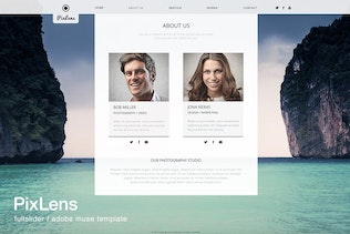 Thumbnail for PixLens - Photography Portfolio Muse Template