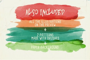 Thumbnail for Watercolor Vector Art Brushes