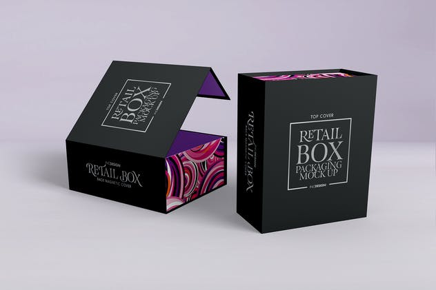 Retail Boxes Vol.4: Magnetic Box Packaging MockUp